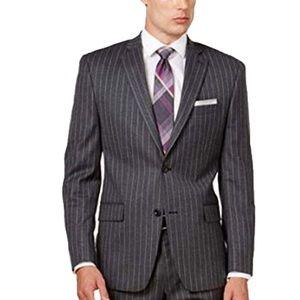 Michael Kors Mens Wool Charcoal Stripe Jacket 36S